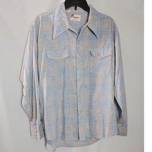 Vintage Western Cowboy Shirt Pearl Snaps XL